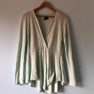 Anthropology left of center Signy top size XS